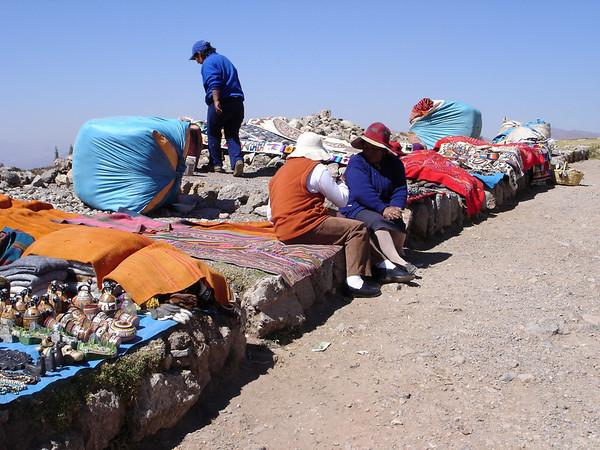 Incan merchants at Puca Pucara