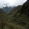 Inca Trail leading up to Dead Woman's Pass.