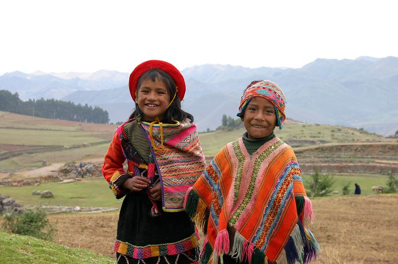 Boy and Girl in the Valley of the Incas
