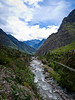 Urubamaba River and the train tracks to Aguas Calientes on the right side