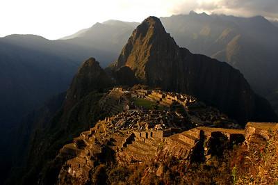Machu Picchu - we're staying till sunset, enjoying this wonderful view.