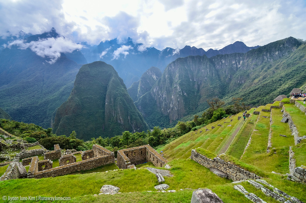 Machu Picchu is situated in between great mountains