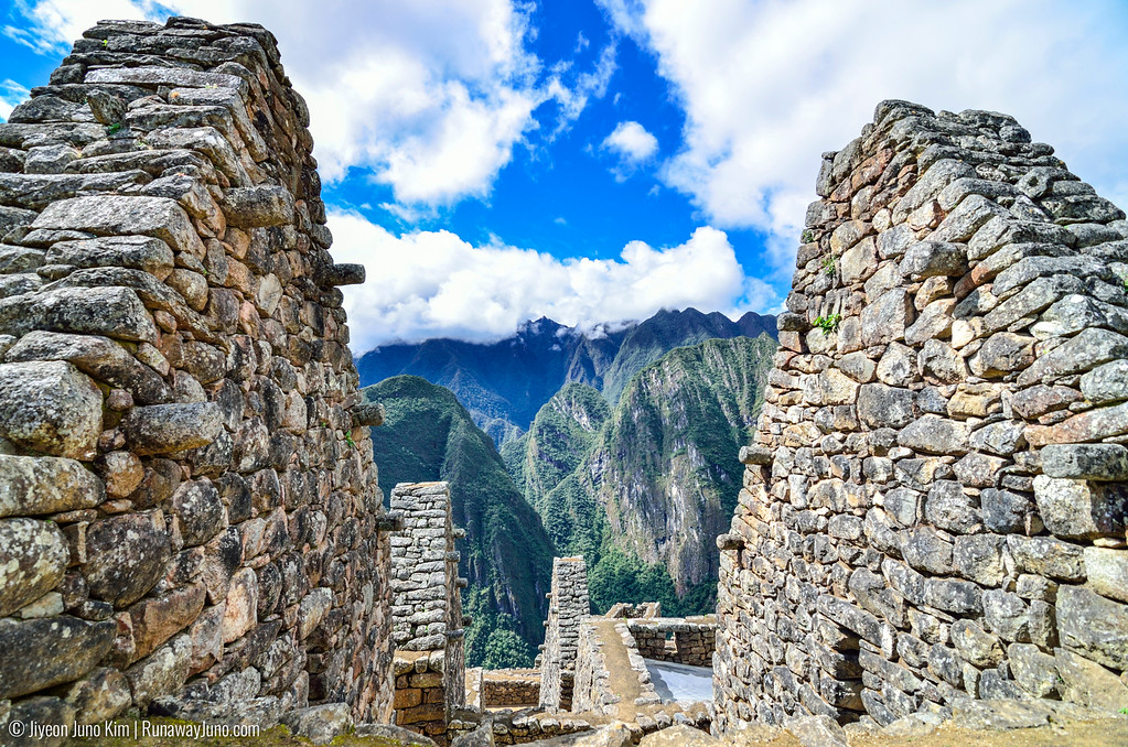 You can see the Inca style roofing structures in Machu Picchu