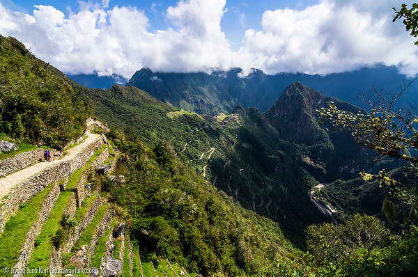 View of Machu Picchu from the Sun Gate