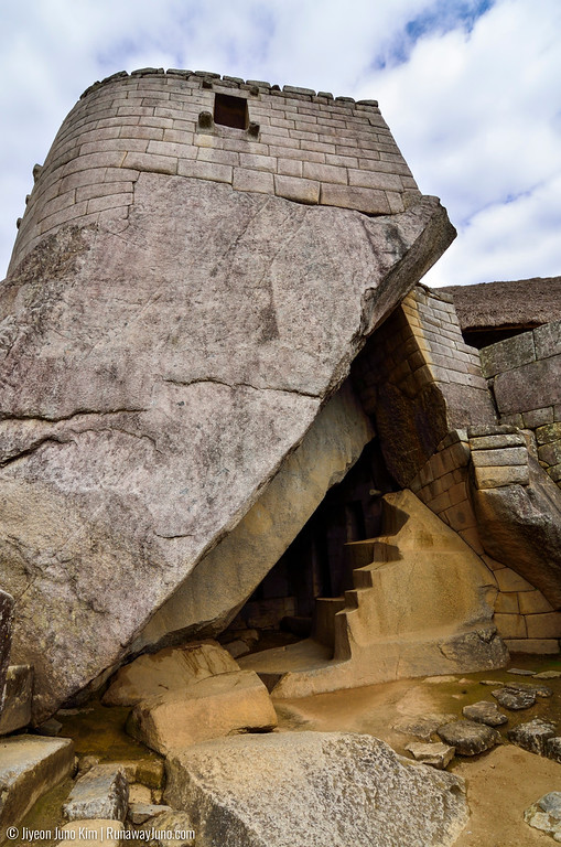 One of the most important structures in Machu Picchu - The Temple of the Sun. It was a natural cave under the temple of the sun, and the recent studies said that this building was made to celebrate the ceremony of the Mother Earth (Pachamama).