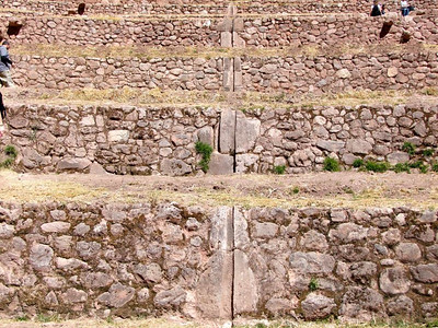 There is an extensive aqueduct system where water flows over special stones.