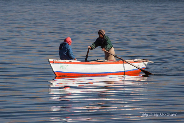 Titicaca 5304<br /> Heading to one of the Uros Islands on Lake Titicaca