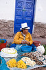 Pisac 3957<br /> Vender in the market at Pisac.
