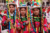 Cusco 5055<br /> School girls getting ready for a Parade around the Plaza De Armas.