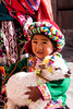 Cusco 3285<br /> Little girl with her pet in Cusco.