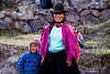 Pisac 3860<br /> Mother and son going down to Pisac for market.