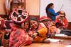 Willoc School 4601<br /> Students in class room in the small school in  Willoc.