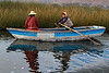 Titicaca 5589<br /> Boat over by the Totora reeds in Lake Titicaca