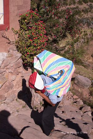 Titicaca 5496<br /> All items are carried up to the village from Port Alsuno in Lake Titicaca.