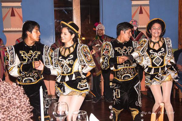 Cusco 3423<br /> Dancers at a café in Cusco.