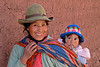 Pisac 4049a<br /> Woman going to the Pisac Market with her baby on her back