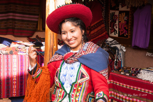 Chinchero 4114<br /> Worker at a weaving cooperative in Chinchero.