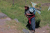 Pisac 4031<br /> Farmer hauling a bundle of grass to market.