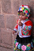 Cusco 3578<br /> Little girl having an ice cream cone in Cusco.