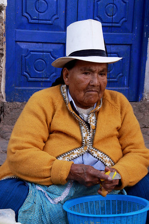 Pisac 3959<br /> Vender at the Pisac market in Pisac