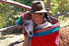 Pisac 3676<br /> Woman with her Alpaca along the road going into Pisac.