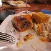 Aji Amarillo relleno...wow. Nunca había comido esta combinación, excelente! El tamal, el pastel de poro....mejor paro pues se me cae la baba.