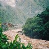 The incredible raging Urubamba River with Aguas Calientes
