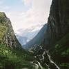Peñas Collpani. Climbing towards Abra Malagra, looking back towards the Urubamba Valley.