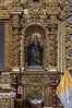 Right side of the gilded main altar in the church La Compañía de Jesús, Arequipa, Peru