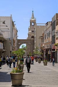 Pedestrian area in Arequipa, Peru