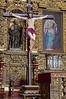 Jesus on the cross in front of the gilded main altar in the church La Compañía de Jesús, Arequipa, Peru