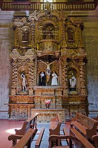 Side altar in the Jesuit church La Compañía de Jesús, Arequipa, Peru