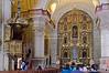 Pulpit and main altar in the Jesuit church La Compañía de Jesús, Arequipa, Peru