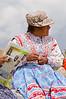 Peruvian woman at Cruz del Condor