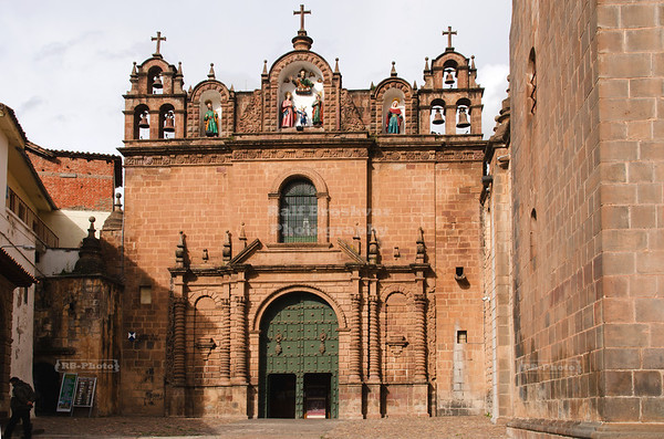 The Church of the Holy Family (Templo De La Sagrada Familia), to the left of the Cathedral in Cusco, Peru
