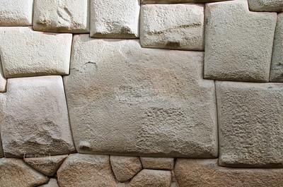 The famous 12-sided Inca stone in Cusco, Peru