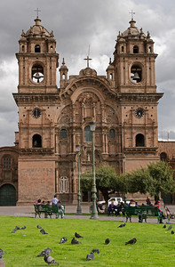 Iglesia La Compañía de Jesús (Jesuit Church) on the east side of Plaza de Armas, Cusco