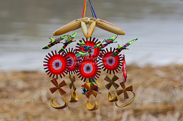 Whirligig - Handicraft produced by the Uros people who live on floating reed island on lake Titicaca, Peru