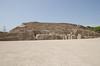 Great Plaza in front of the adobe pyramid of Huaca Pucllana, Miraflores, Lima, Peru