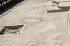 Excavated tombs at the base of Huaca Pucllana, Miraflores, Lima, Peru