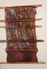Ancient weaving loom with cloth of the Wari Culture found at the Adobe Pyramid of Huaca Pucllanca, Miraflores, Lima, Peru