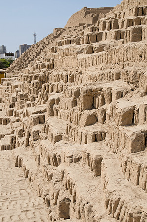 The Adobe Pyramid of  Huaca Pucllana, Miraflores, Lima, Peru