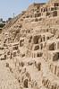 The Adobe Pyramid of  Huaca Pucllana, Miraflores, Lima, Peru
