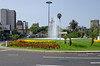Fountain on a traffic circle at the end of Avenida Arequipa, Miraflores, Lima, Peru