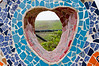 Heart shaped mosaic at the Lovers Park (El Parque del Amor) in Miraflores, Lima, Peru