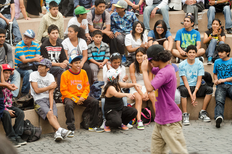 Break dance competition in Kennedy Park, Miraflores