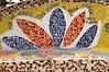 Floral mosaic at the Lovers Park (El Parque del Amor) in Miraflores, Lima, Peru