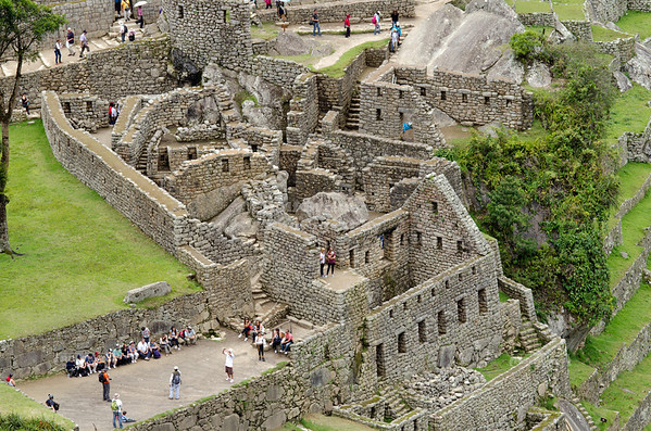 The Inca ruins at Machu Picchu, Peru