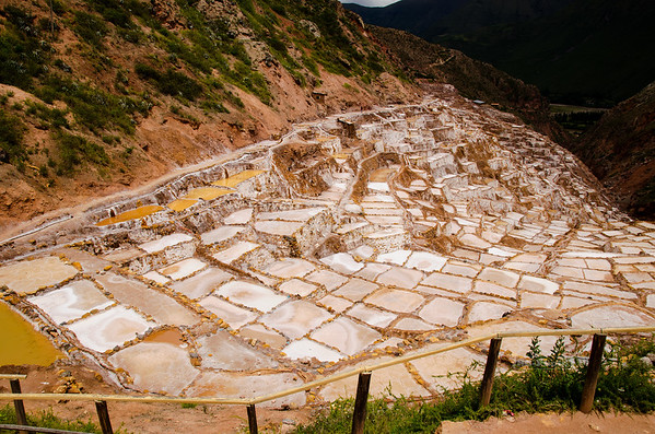 The ancient salt pans of Maras