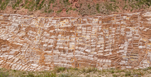 The Salt pans at Maras, Peru have been in use since the Inca times